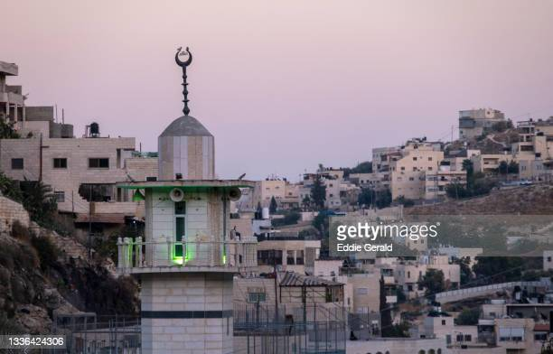 the palestinian neighbourhood of silwan - israel stock pictures, royalty-free photos & images