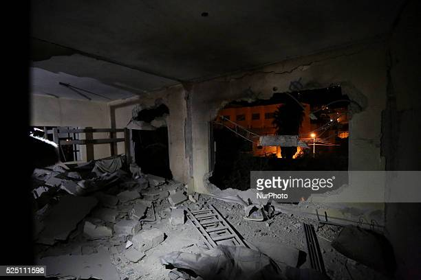The palestinian presoner house Yahya Haj Hamd after exploding by isreali soldiers in the West Bank city of Nablus November 14 2015 Almaari accused of...