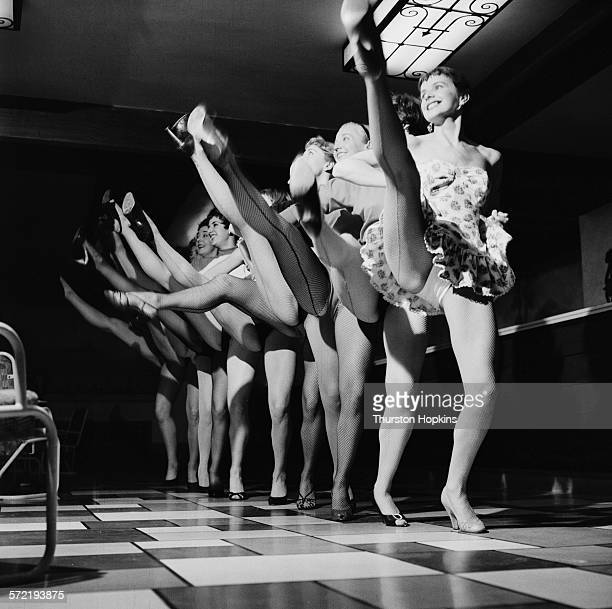 The Palladium Girls dance troupe performing September 1955 The troupe has been put together to perform on the ATV variety show 'Sunday Night at the...