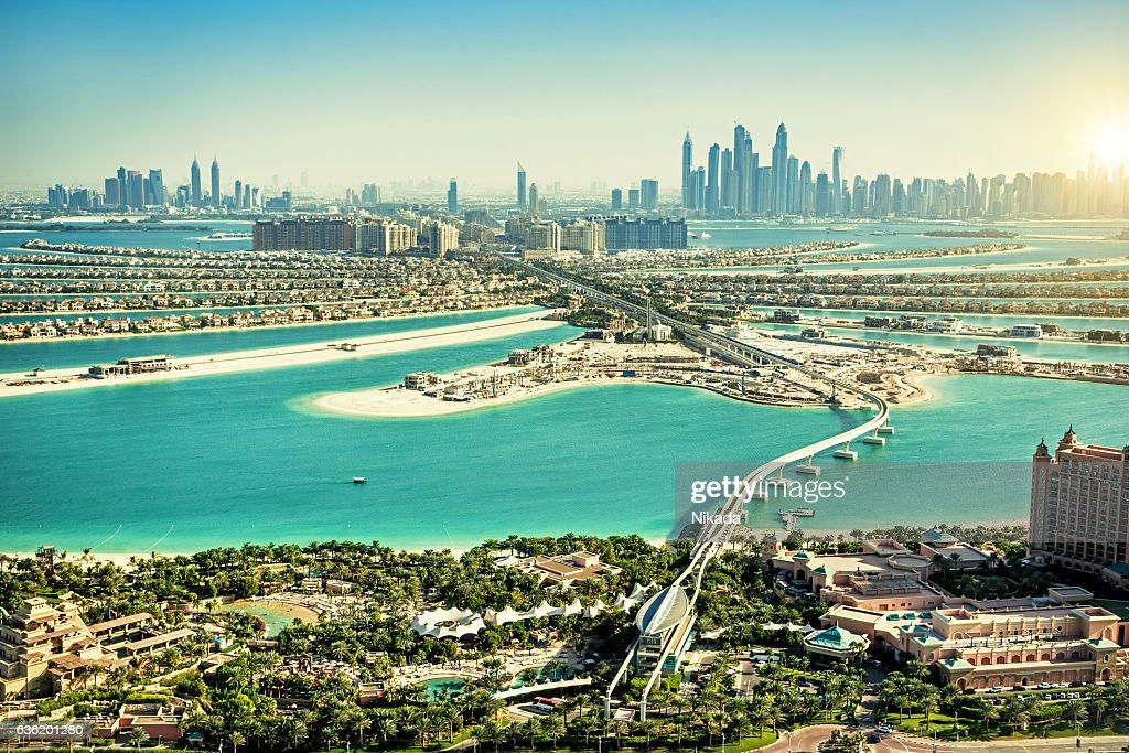 The Palm Jumeirah, Dubai, UAE : Stock Photo