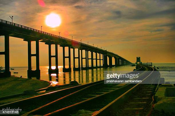 The Pamban bridge on the sea of south India of PALK STRAIT that is very the old connectivity of Rameswaram island to mainland India The name Pamban...