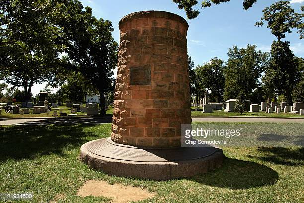 The Pan Am Flight 103 Lockerbie Cairn stands in Section 1 of Arlington National Cemetery August 23 2011 in Arlington United States The Lockerbie...