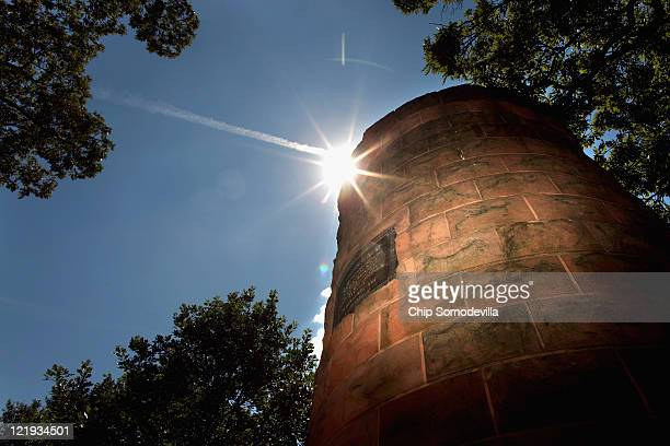 The Pan Am Flight 103 Lockerbie Cairn stands in Section 1 of Arlington National Cemetery August 23, 2011 in Arlington, United States. The Lockerbie...