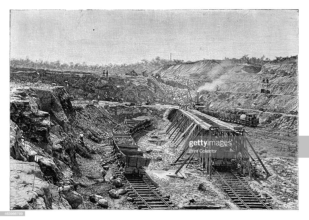 The Panama Canal under construction, c1890. : News Photo