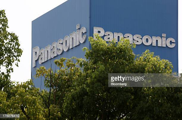 The Panasonic Corp logo is displayed at the company's headquarters in Kadoma Osaka Prefecture Japan on Wednesday July 31 2013 Panasonic Japan's...