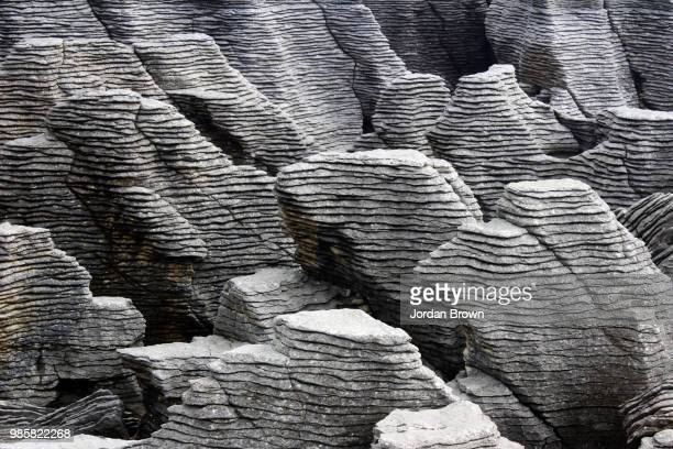 the pancake rocks - eroded stock pictures, royalty-free photos & images