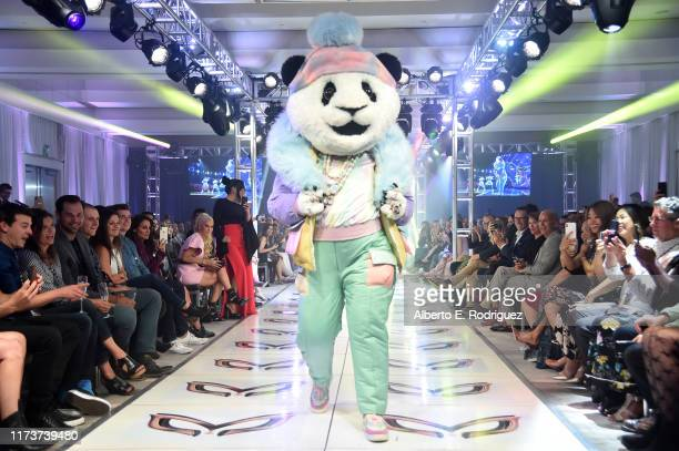 The Panda participates in a runway show for the premiere of Fox's The Masked Singer Season 2 at The Bazaar at the SLS Hotel Beverly Hills on...