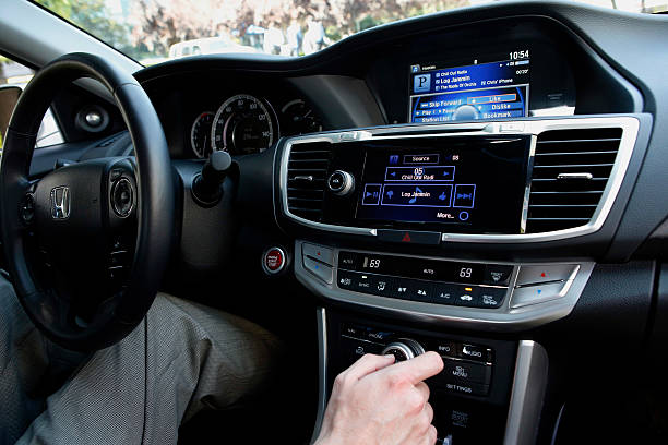 The Pandora Media Inc Integrated Entertainment System Is Demonstrated Inside A Honda Accord Vehicle At