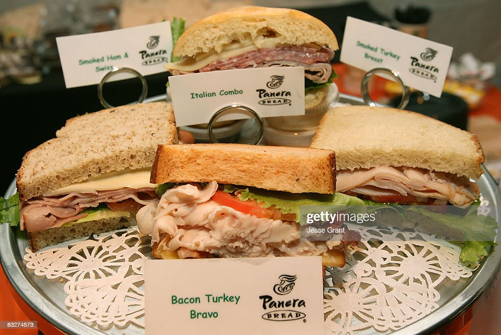 The Panera bread counter at the Spring 2009 Mercedes-Benz Fashion Week held at Smashbox Studios on October 14, 2008 in Culver City, California.