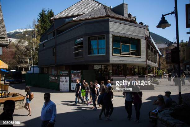 The Pangea Pod Hotel stands under construction in Whistler British Columbia Canada on Friday April 27 2018 The cost of a typical home in Whistler has...