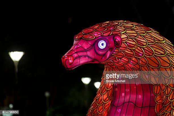 The Pangolin float during the parade celebrating 100 years of Taronga Zoo on October 15 2016 in Sydney Australia The parade will recreate the...