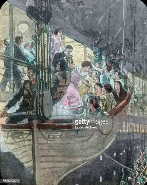The panic is spreading on board the RMS Titanic when it comes to the distribution of seats in the lifeboats. The sinking of the Titanic, panic on...