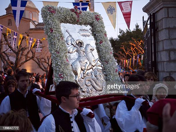 The Panigyraki of Saint George is a three-day feast and celebration in honor of Saint George , Arachova's patron saint and the victory by the Greeks...