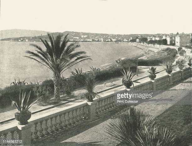 The panorama of La Croisette Cannes France 1895 The Mediterranean Sea from the resort of Cannes on the French Riviera From Round the World in...