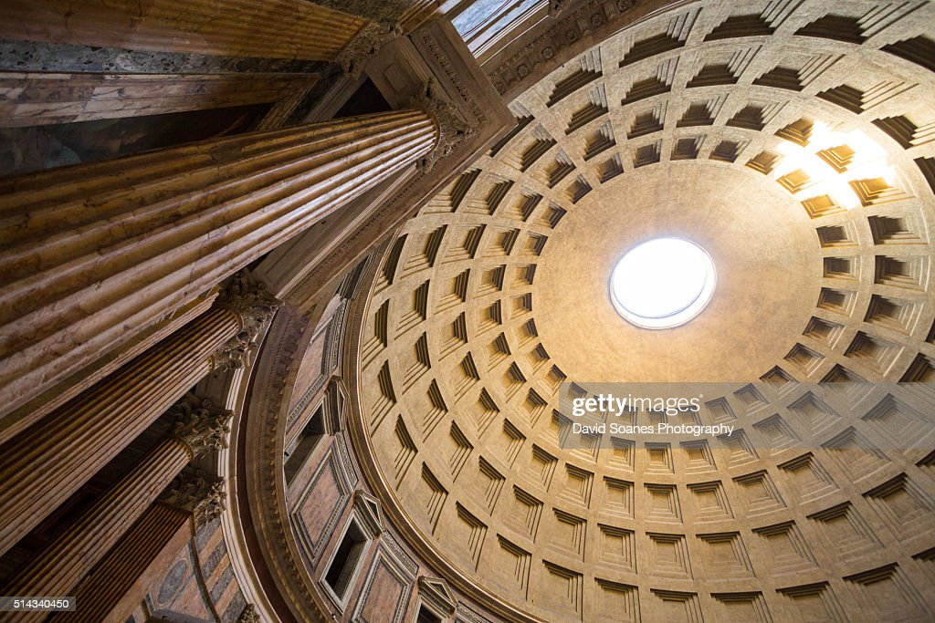 The Pantheon dome in Rome, Italy : Stock Photo