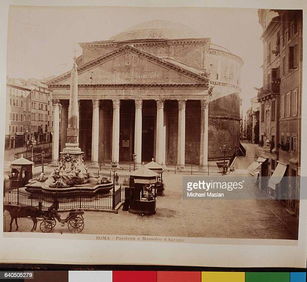 The Pantheon in Rome originally served as a temple then became a Christian church in 609 AD It also served as the Mausoleum of Agrippa The fountain...