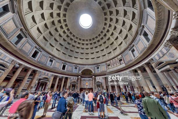 The Pantheon is seen from inside on October 31 2017 in Rome Italy Rome is one of the most popular tourist destinations in the World
