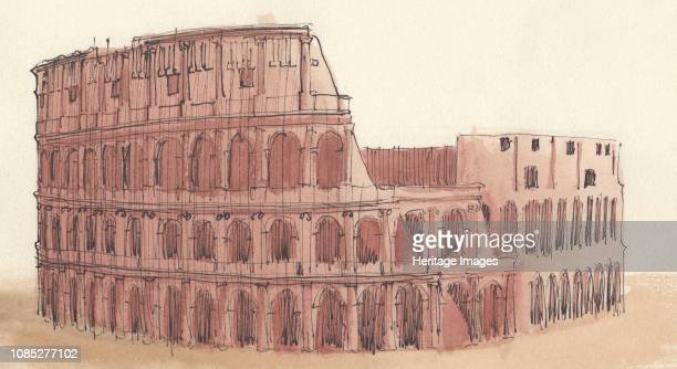 The Pantheon Rome Italy 1951 'Roman architecture The Pantheon Rome AD 120124 Section and view of interior Eye Portico and Rotunda' The Pantheon a...
