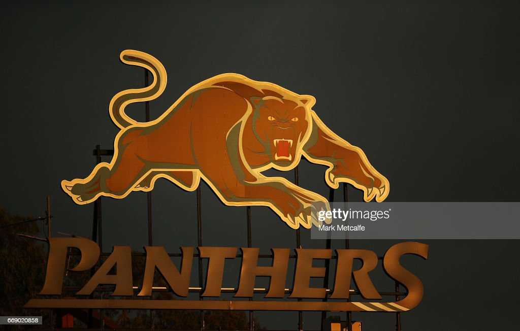 The Panthers sign is seen during the round seven NRL match between the Penrith Panthers and the Cronulla Sharks at Pepper Stadium on April 16, 2017 in Sydney, Australia.