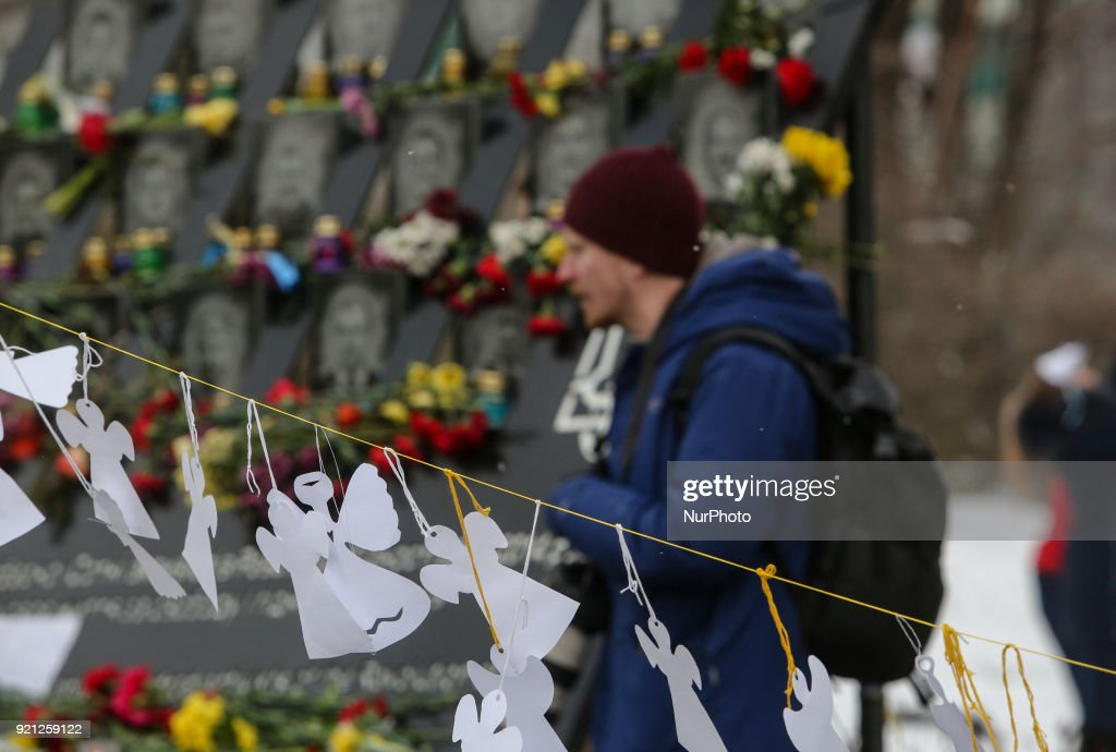 4th Anniversary of Heavenly Hundred death in Kyiv : News Photo
