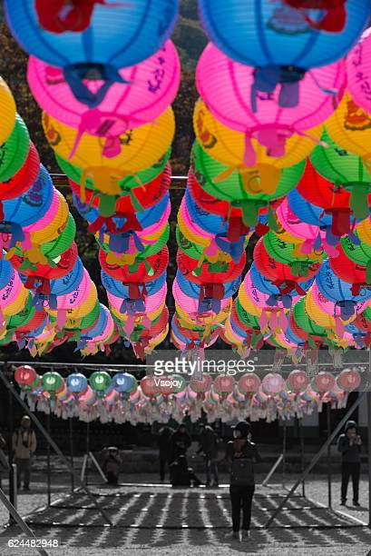 the paper lantern naejangsan - vsojoy stock pictures, royalty-free photos & images
