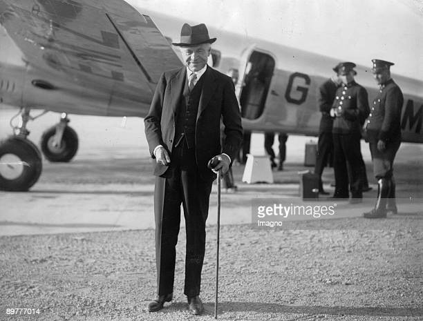 The papers magnate Lord Beaverbrock on his arrival in Vienna Photograph Around 1935