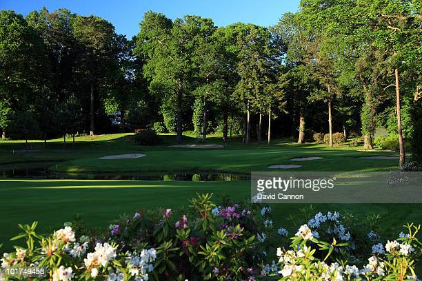 The par 3 11th hole at Stoke Park on June 3 in Stoke Poges England