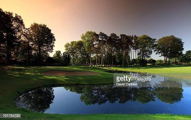 The par 3 11th hole at The Stoke Park Club on June 4 in Stoke Poges England