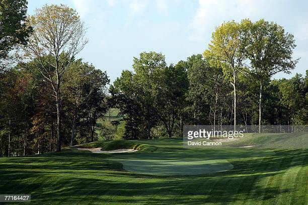 The par 3 11th hole at Valhalla Golf Club venue for the 2008 Ryder Cup Matches on October 2 2007 in Louisville Kentucky