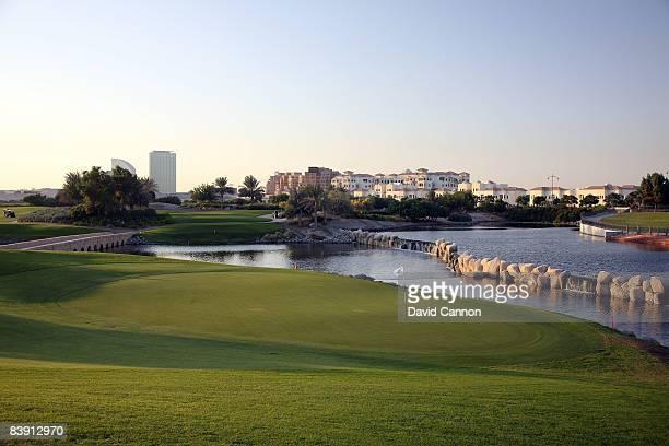 The par 3 11th hole on the Four Seasons Golf Club at Dubai Festival City on November 19 2008 in Dubai