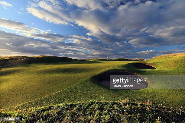 The par 3, 13th hole at The Honourable Company of Edinburgh Golfers at Muirfield on August 31, in Gullane, Lothian, Scotland.
