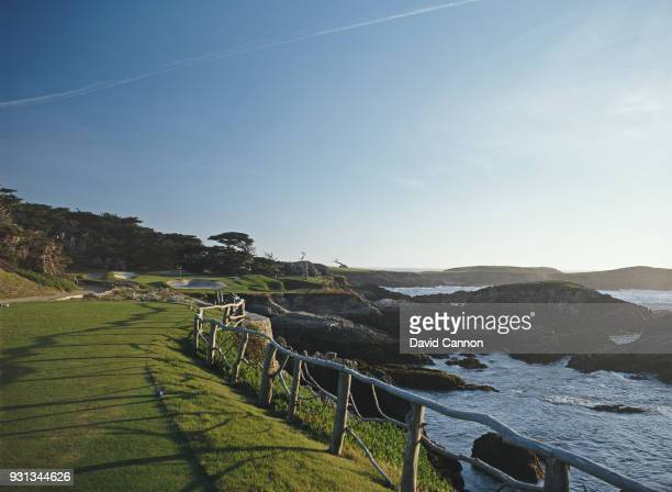 The par 3 15th hole at Cypress Point Golf Club on September 21 1992 in Pebble Beach California United States