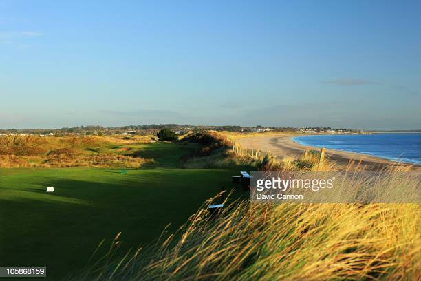 The par 3 15th hole at Portmarnock Golf Club on October 19 2010 in Portmarnock Co Dublin Republic of Ireland