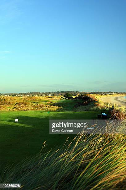 The par 3 15th hole at Portmarnock Golf Club on October 19 2010 in Portmarnock Co Dublin Republic of Ireland
