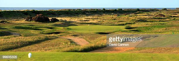 The par 3 16th hole at Hunstanton Golf Club on May 15 2010 in Hunstanton England