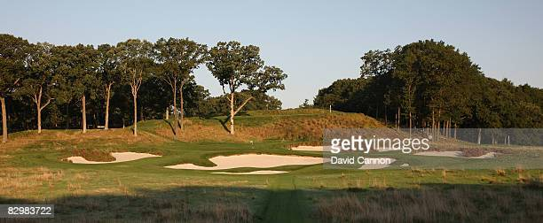 The par 3 17th hole on the Black Course at Bethpage State Park venue for the 2009 US Open Championship on September 23 2008 in Bethpage New York