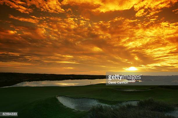 The par 3 17th hole on The Ocean Course at Kiawah Island, on November 18 in Kiawah Island, South Carolina, USA.