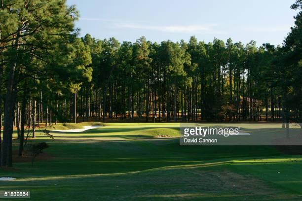 The par 3, 17th hole on The Pinehurst No 2 Course venue for the 2005 US Open, on November 14 in Pinehurst, North Carolina, USA.