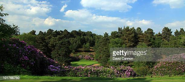 The par 3 3rd hole on the Dukes Course at Woburn Golf and Country Club on June 4 in Little Brickhill England
