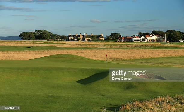 The par 3 4th hole at The Honourable Company of Edinburgh Golfers at Muirfield on August 31 in Gullane Lothian Scotland