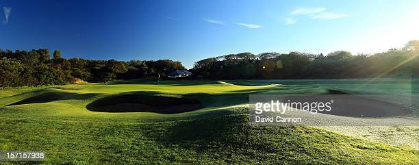 The par 3 4th hole at The Royal Birkdale Golf Club on September 22 in Southport Merseyside England