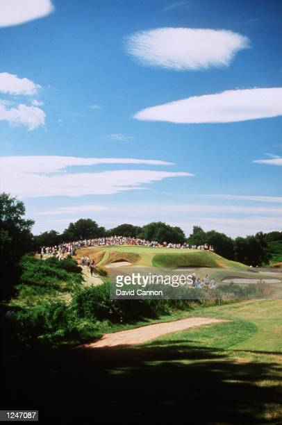 The par 3, 5th Hole at the Kings Course, Gleneagles Golf Club, Scotland. Mandatory Credit: David Cannon/ALLSPORT