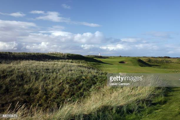 The par 3, 6th hole on the Ailsa Course at the Westin Turnberry Resort, on October 8, 2008 in Turnberry, Scotland.