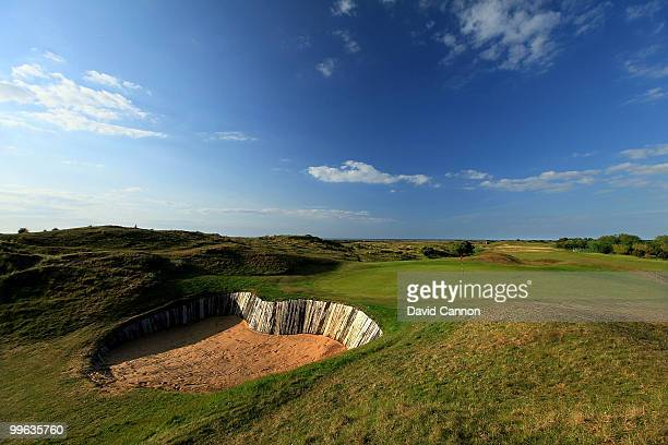 The par 3 7th hole at Hunstanton Golf Club on May 15 2010 in Hunstanton England