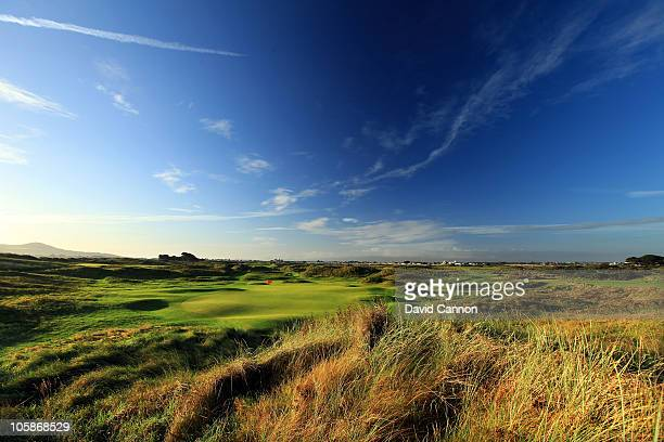 The par 3 7th hole at Portmarnock Golf Club on October 19 2010 in Portmarnock Co Dublin Republic of Ireland