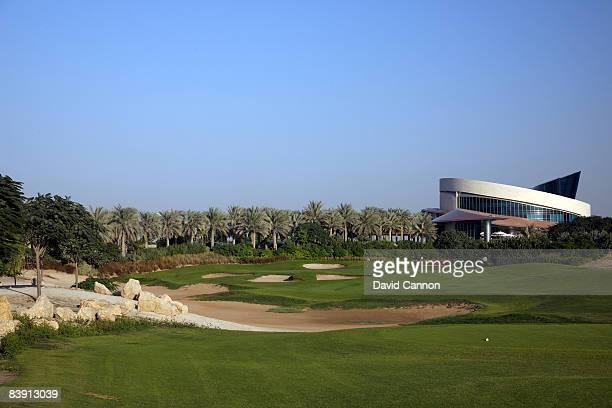 The par 3 7th hole at the Four Seasons Golf Club at Dubai Festival City on November 19 2008 in Dubai
