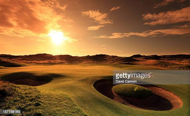The par 3 7th hole at The Royal Birkdale Golf Club on August 23 in Southport Merseyside England