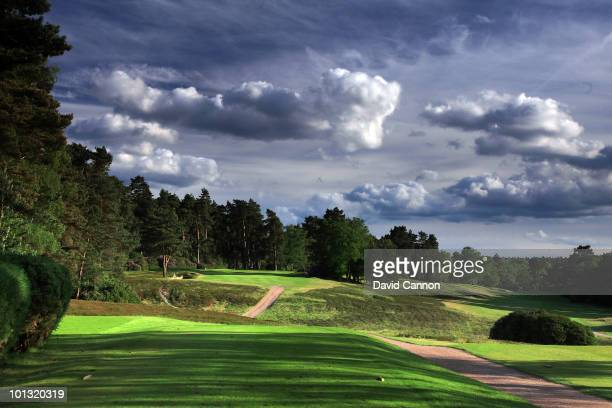 The par 3 7th hole on The Red Course at the The Berkshire on May 30 in Ascot England