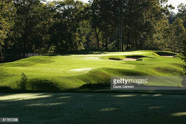 The par 3 8th hole at the Valhalla Golf Club on September 21 2004 in Louisville Kentucky USA