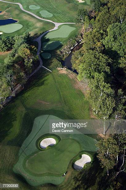 The par 3 8th hole at Valhalla Golf Club venue for the 2008 Ryder Cup Matches on October 4 2007 in Louisville Kentucky